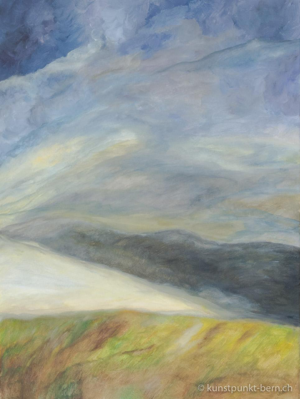 Wolkental - Acryl auf Leinwand - von Judith Kaffka - kunstpunkt-bern.ch