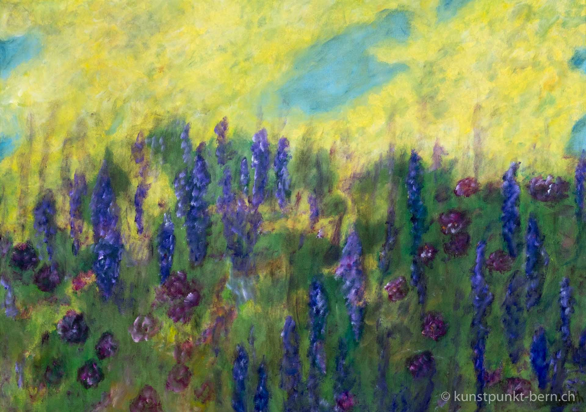 Hiddenseer Blumenwiese - Acryl auf Leinwand - von Judith Kaffka - kunstpunkt-bern.ch