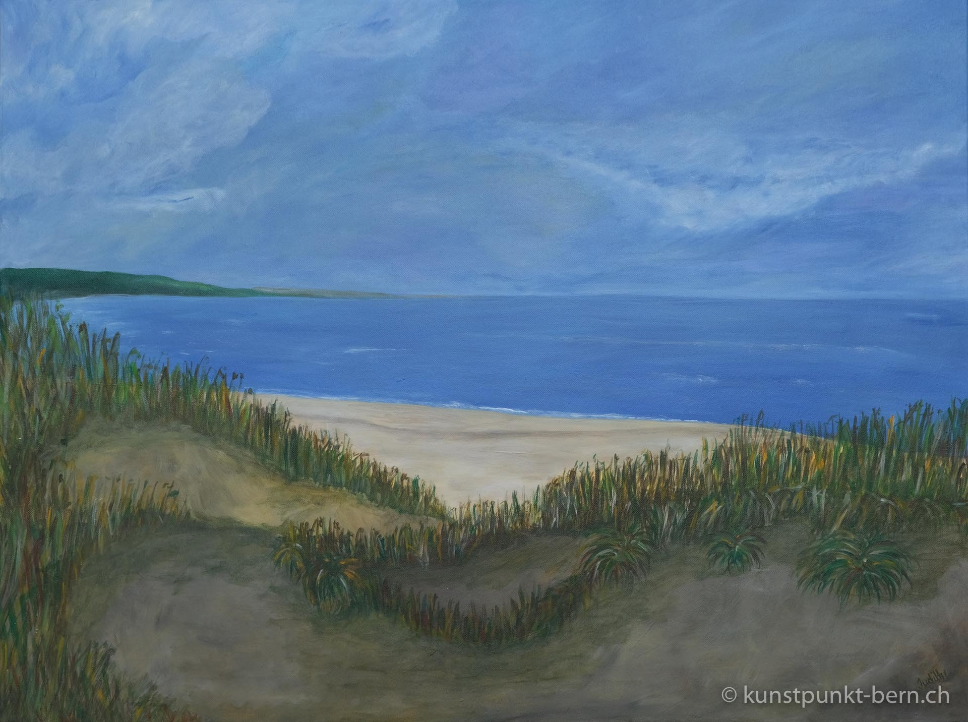 Strandhafer - Acryl auf Leinwand - von Judith Kaffka - kunstpunkt-bern.ch