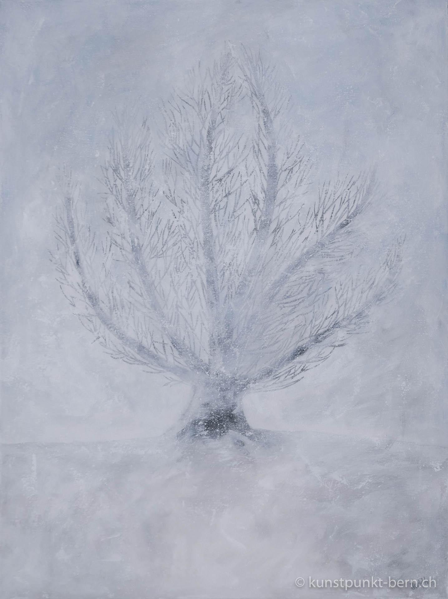 Winterbaum - Acryl auf Leinwand - von Judith Kaffka - kunstpunkt-bern.ch