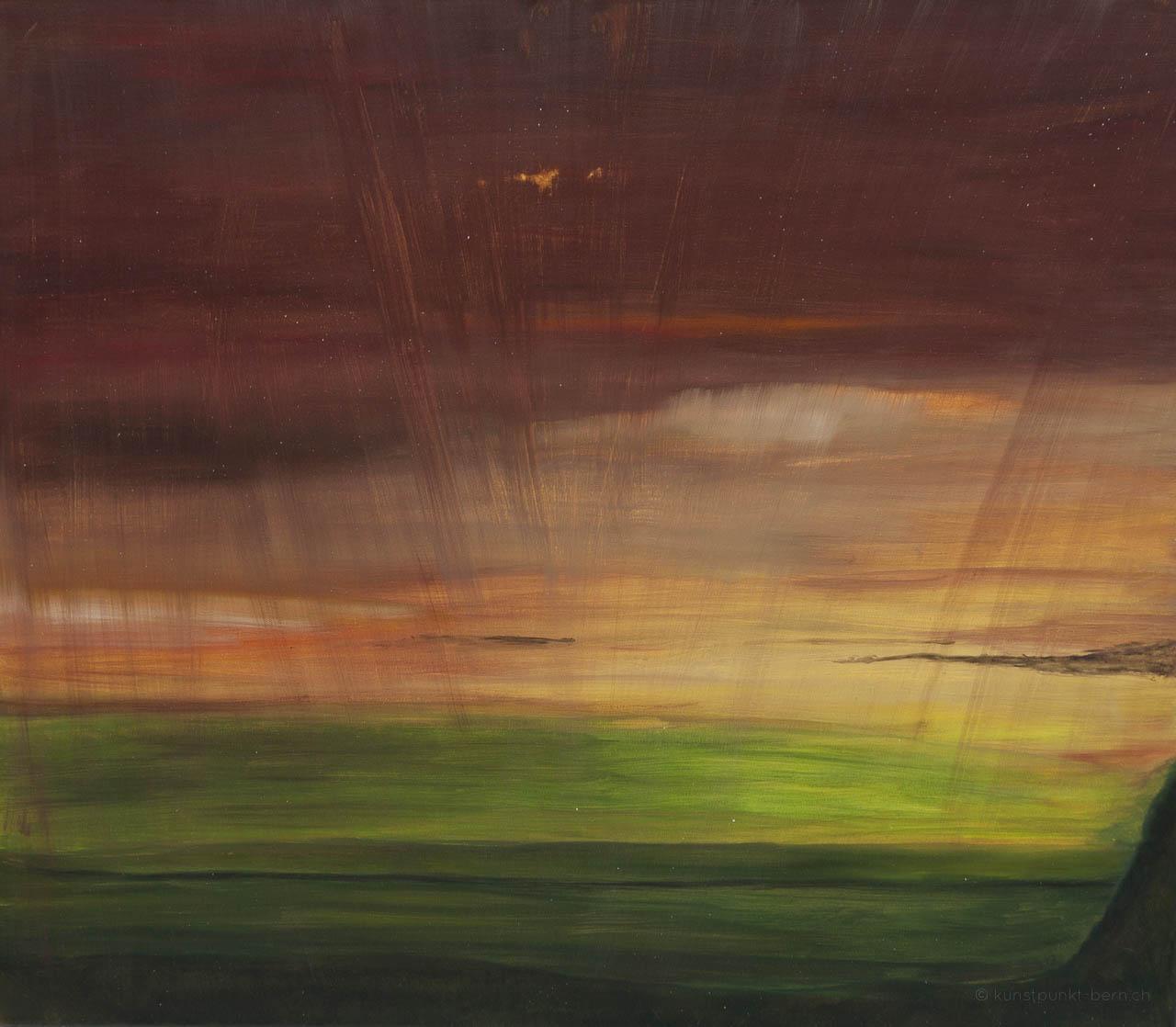 Sonnenwind im Einzug der Nacht - Acryl auf Leinwand - von Judith Kaffka - kunstpunkt-bern.ch