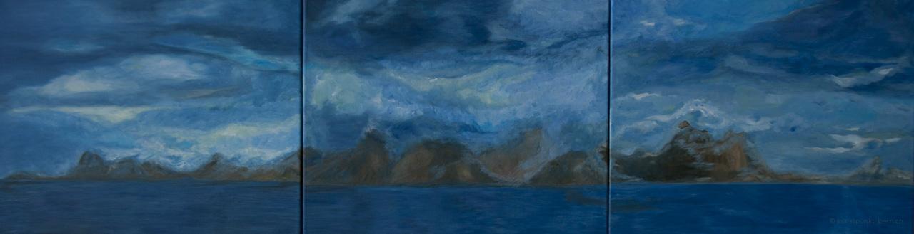 Der Landgang vom Wolkenmeer - Acryl auf Leinwand - von Judith Kaffka - kunstpunkt-bern.ch
