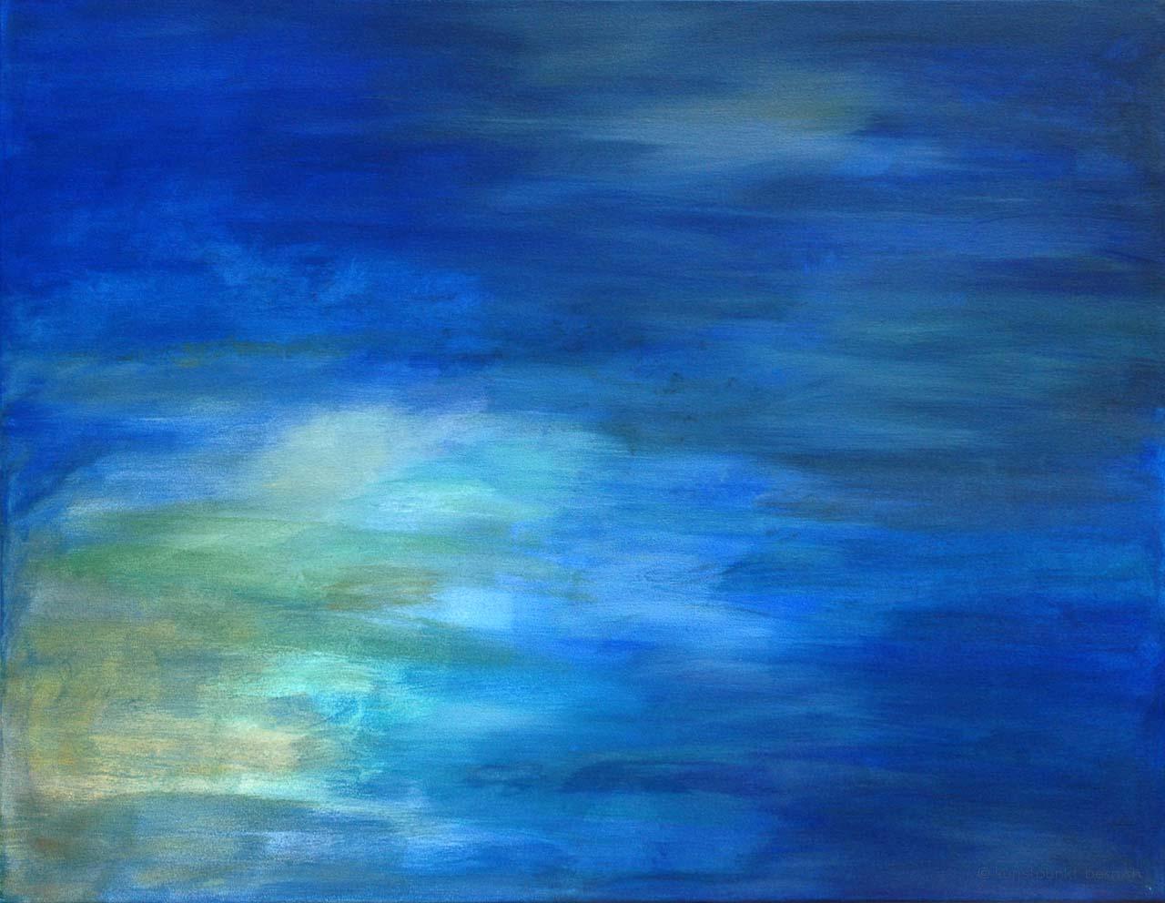 Ausguck am Himmelsfenster - Acrylpigment auf Leinwand - von Judith Kaffka - kunstpunkt-bern.ch
