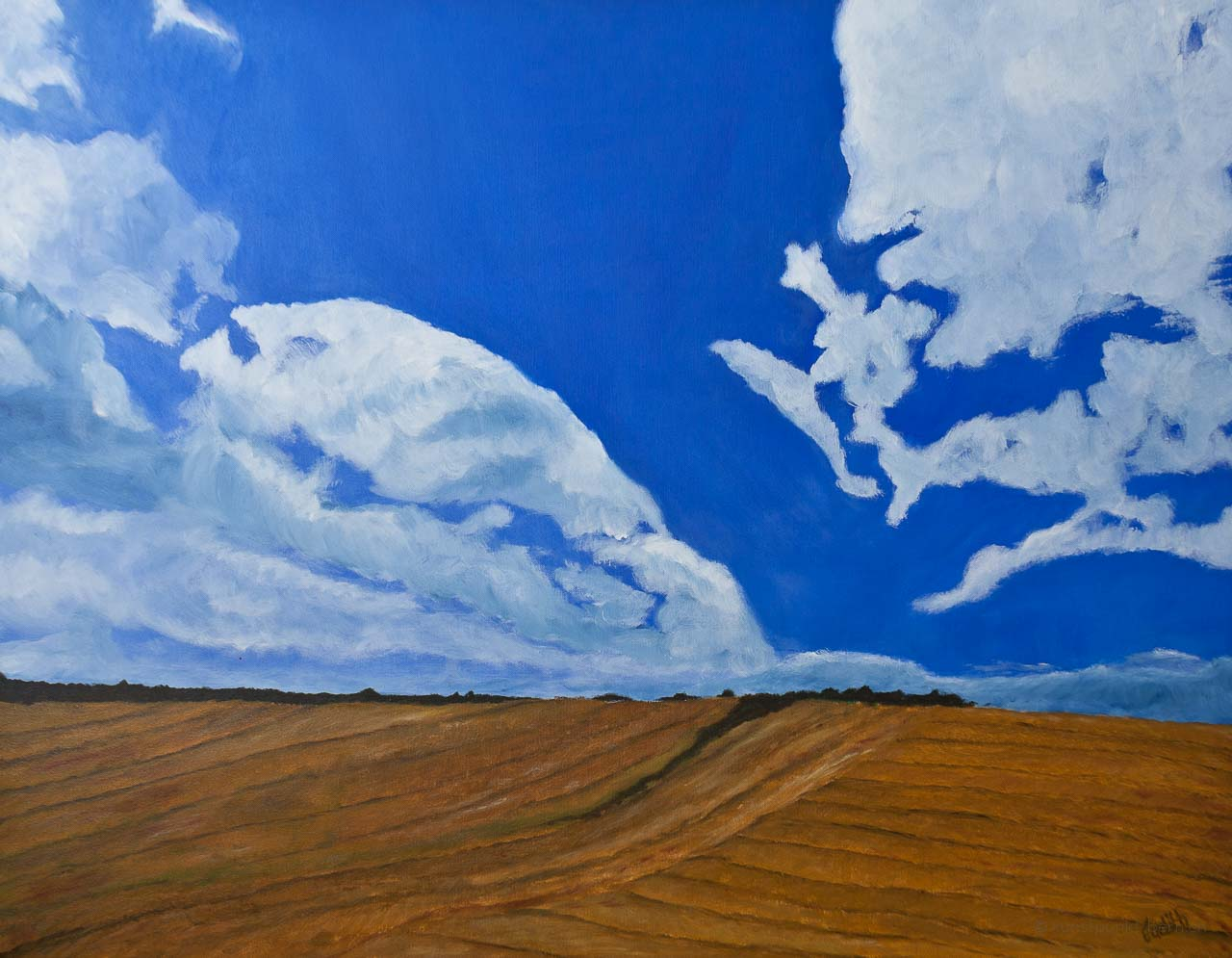 Soweit das Auge reicht - Acryl auf Leinwand - von Judith Kaffka - kunstpunkt-bern.ch