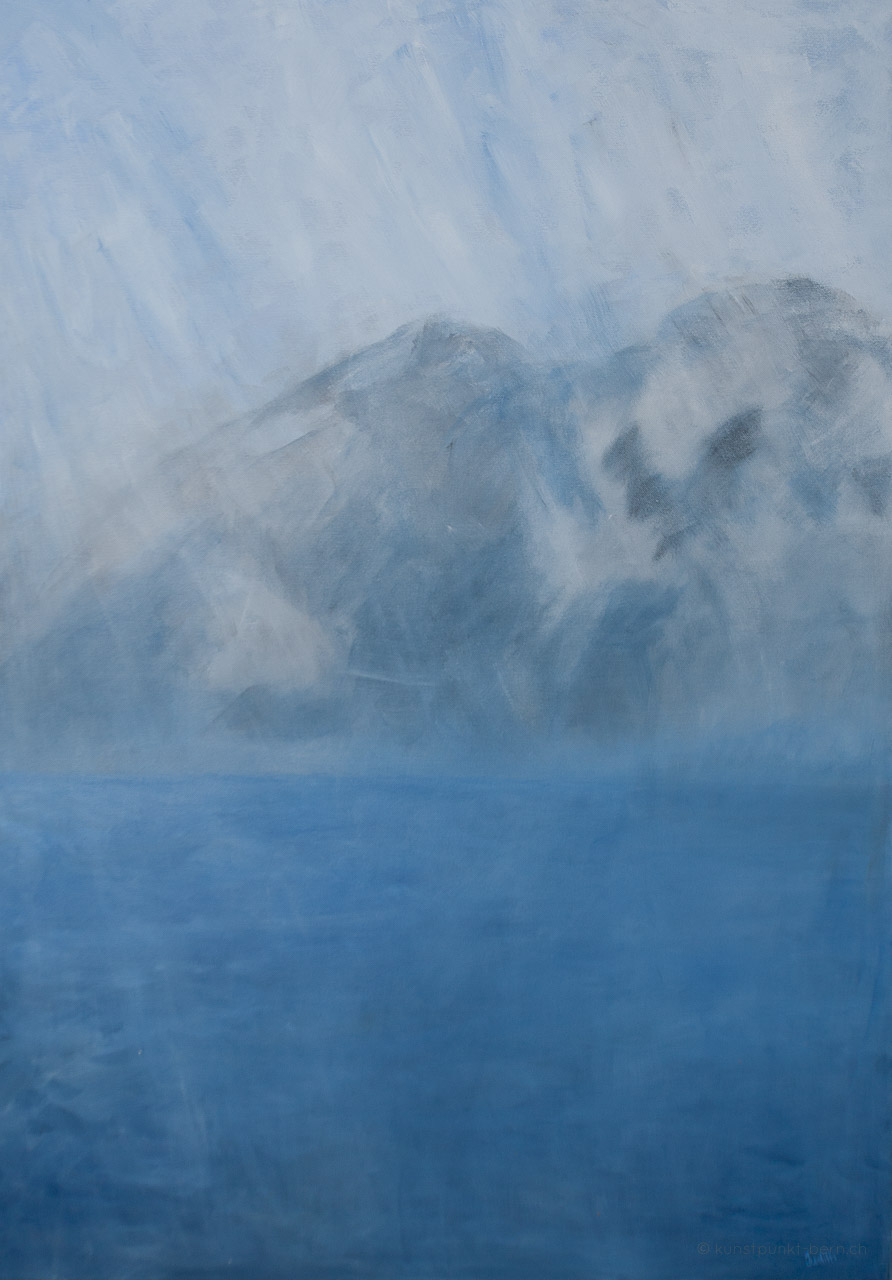 Taxa am Berghimmel - Acryl auf Leinwand - von Judith Kaffka - kunstpunkt-bern.ch