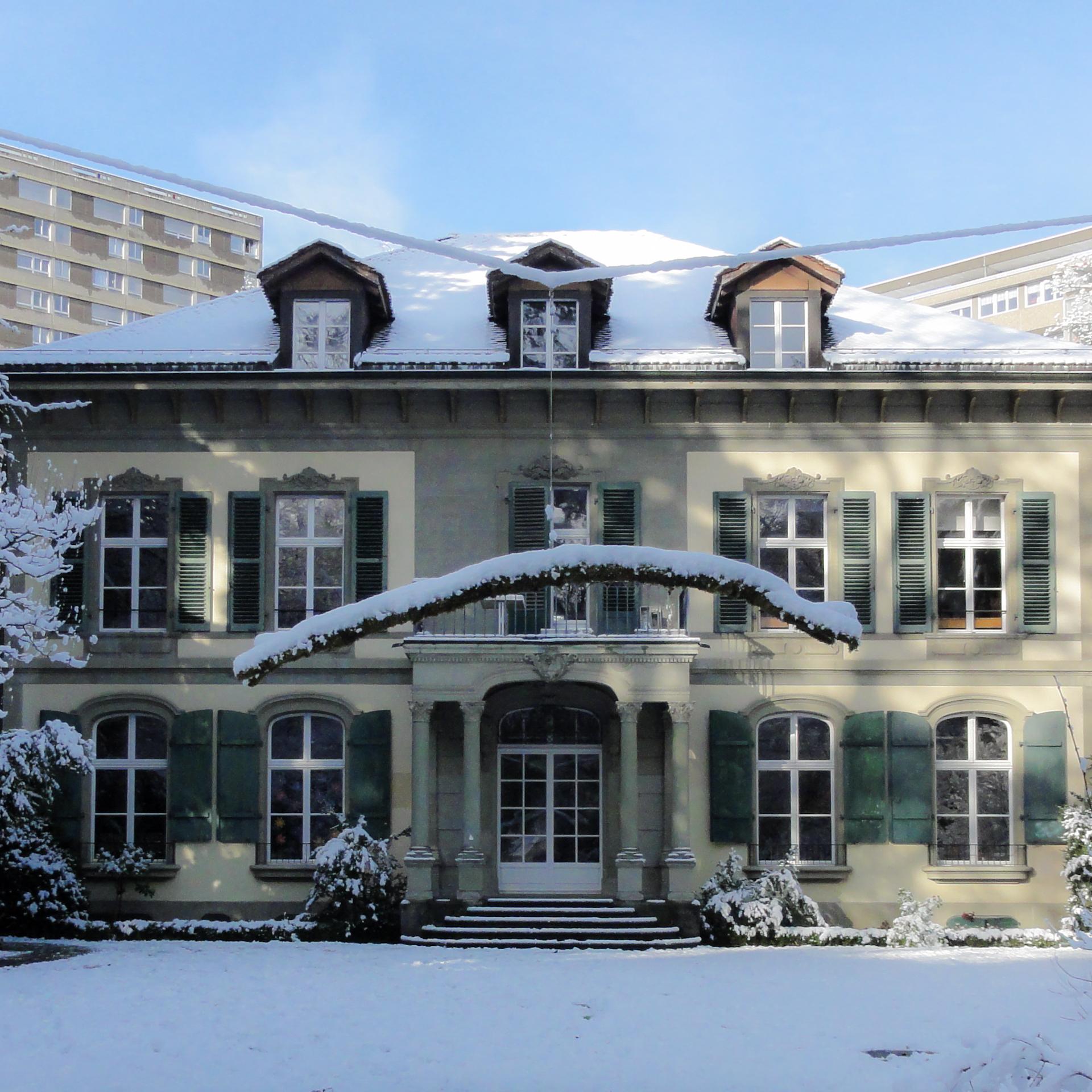 Balance im Park Fellerstock im Winter