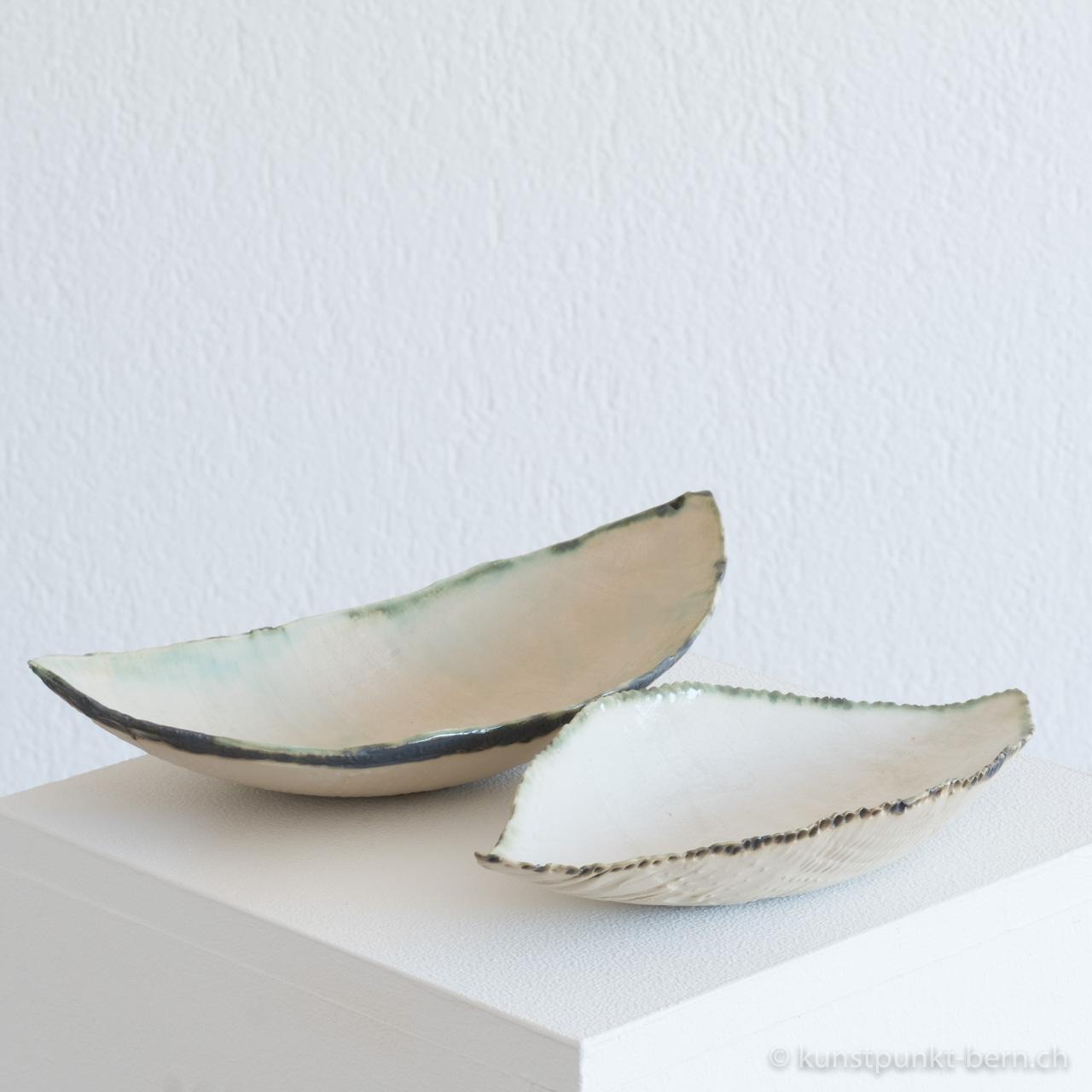 Coquille blanc Tongefäss von Judith Kaffka kunstpunkt-bern.ch