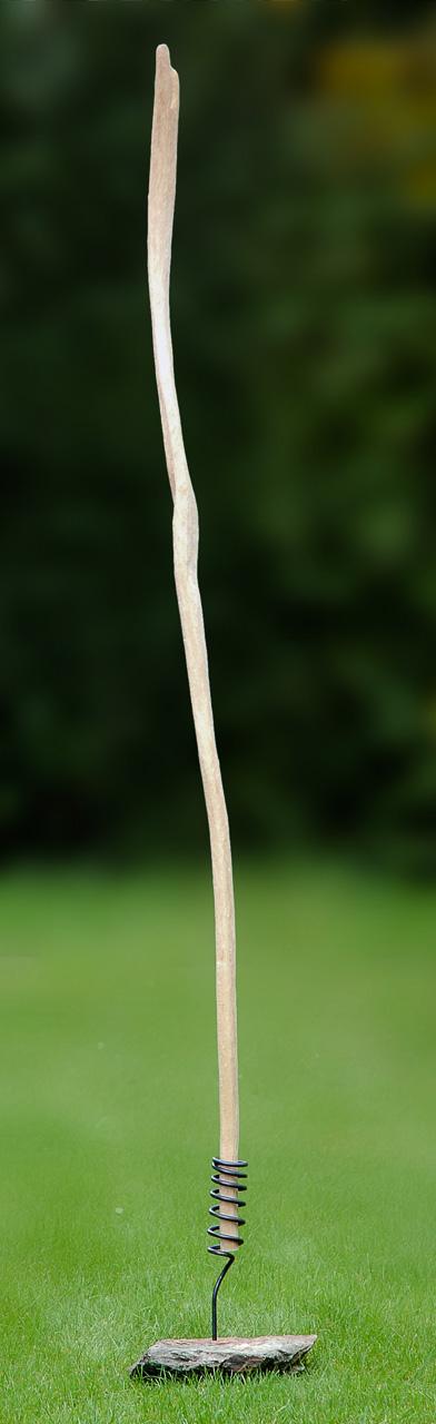 Windpfeife - Holzskulptur von Judith Kaffka