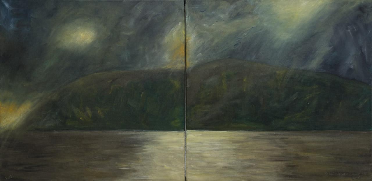 Nachtfunkeln - Acryl auf Leinwand - von Judith Kaffka - kunstpunkt-bern.ch