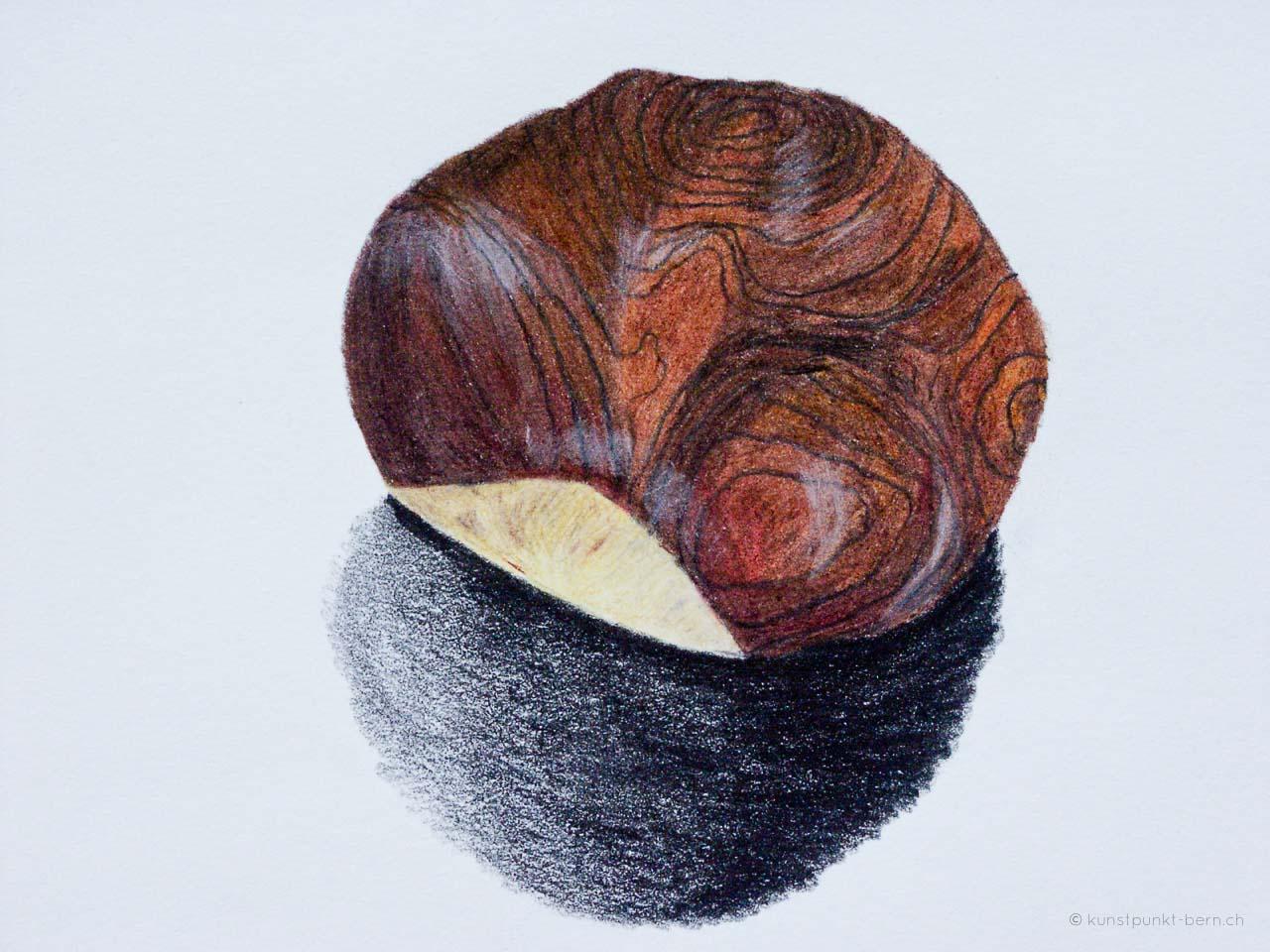 Gefunden - Farbstift auf Papier - von Judith Kaffka - kunstpunkt-bern.ch