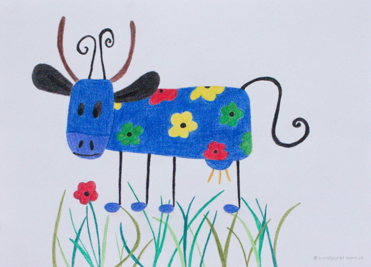 Hannah - Farbstift auf Papier - von Judith Kaffka - kunstpunkt-bern.ch
