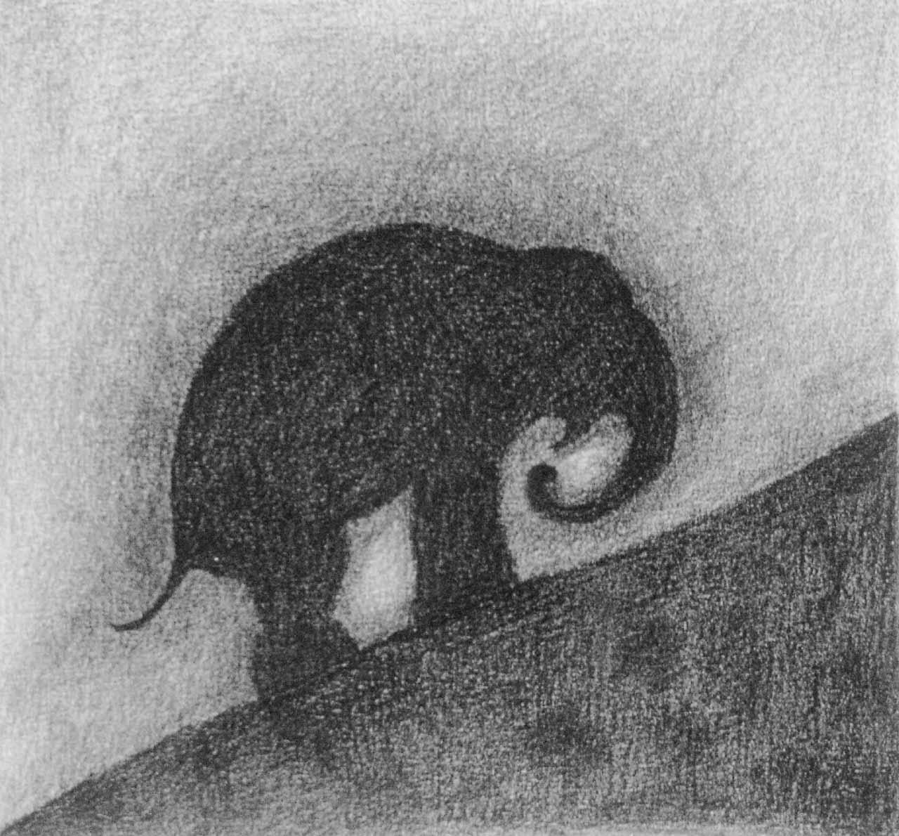Sisyphus - Grafitstift auf Papier - von Judith Kaffka - kunstpunkt-bern.ch