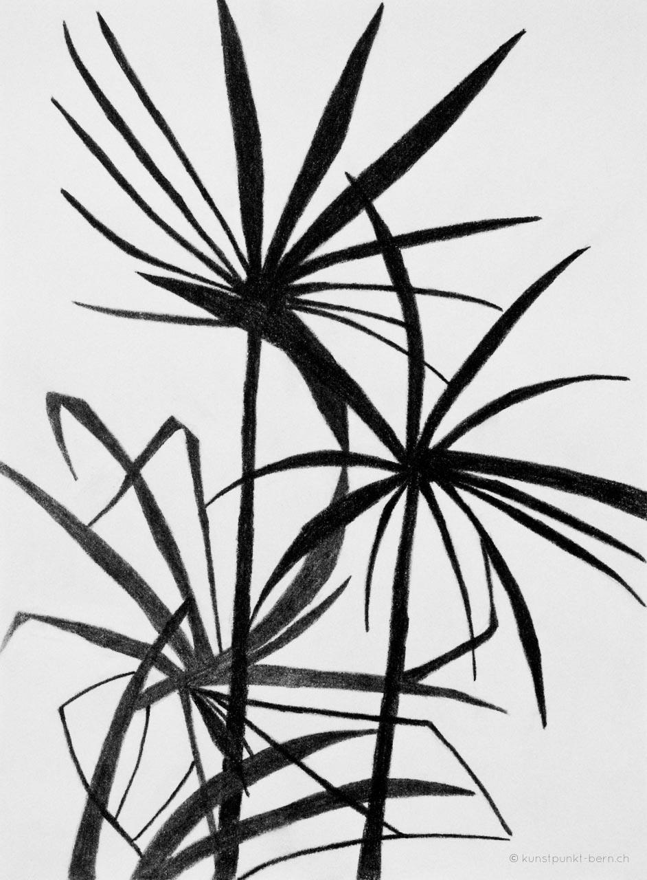 Zwei unter Anderen - Grafitstift auf Papier - von Judith Kaffka - kunstpunkt-bern.ch